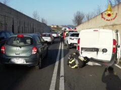 Incidente stradale lungo la SS 16