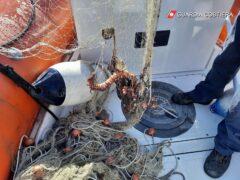 Rete da pesca sequestrata ad Ancona