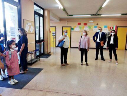 Primo giorno di scuola ad Ancona