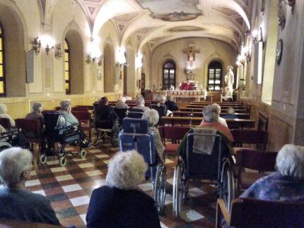 Messa per gli anziani ospiti della casa di riposo di Jesi