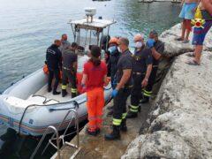 Persona soccorsa nei pressi del Passetto di Ancona