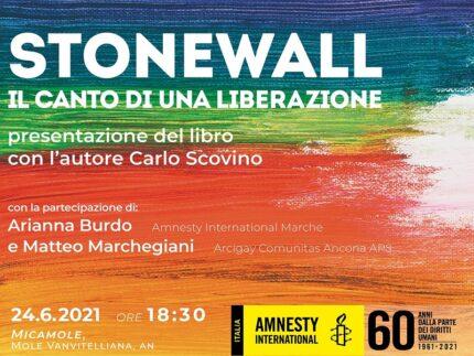 """Locandina relativa alla presentazione del libro """"Stonewall"""""""