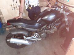 Motocicletta Ducati sequestrata a Falconara