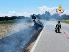 Incendio a Monte San Vito