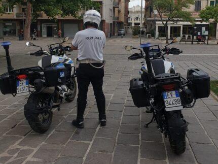 Moto della Polizia Locale di Falconara