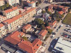 Veduta aerea di parte di Ancona