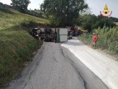 Incidente stradale a Montecarotto