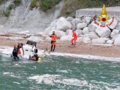 Imbarcazione affondata ad Ancona