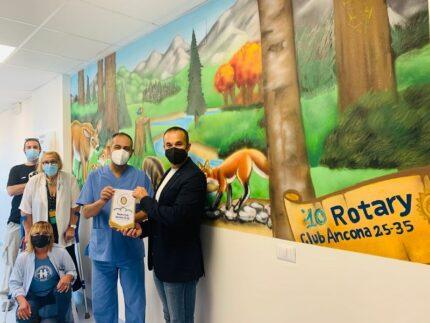 Murale donato all'Ospedale Salesi